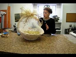 Easter Baskets Decorated With Tulle by Nashville Wraps Presents Wrapping A Basket With Tulle Youtube