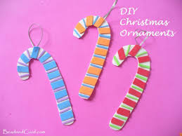 diy christmas ornaments foam paper candy canes bead u0026cord
