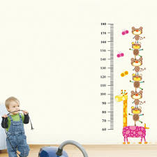 removable kids height measurement growth chart wall stickers removable kids height measurement growth chart wall stickers