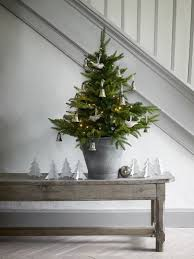 love the zink bucket to hold the tree merry little christmas