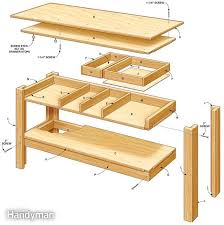Kids Work Bench Plans Stylish Ideas For Workbench With Drawers Design Workbench Plans 5