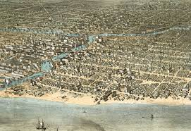 Aerial Map Of Chicago by Chicago Il In 1868 Bird U0027s Eye View Map Aerial Map Panorama