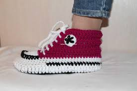 pattern crochet converse slippers autumn shoes crochet pattern converse slippers crochet pattern
