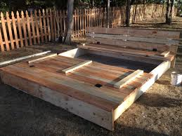 Sandboxes With Canopy And Cover by 8x8 Sandbox With Lid That Folds Up To Be Benches On Either Side