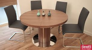 round extending dining room table and chairs minimalist image of small dining room decoration using chrome grey