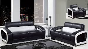 furniture best black and white leather modern living room sofa