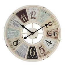 Large Shabby Chic Wall Clock by Chic Large Cream Wall Clock 62 Large Cream Kitchen Wall Clocks