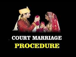 Marriage Caption Procedure Of Court Marriage Or Registered Marriage In India Youtube