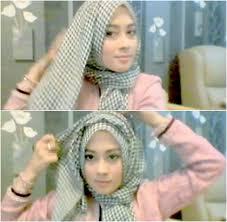 tutorial hijab noura tutorial hijab hanya 1 menit ala personil noura nina septiani 4