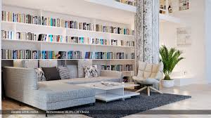 Home Library Ideas by Gray White Lounge Home Library Interior Design Ideas