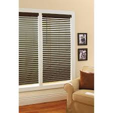 curtains better homes and garden 2 espresso faux wood windows