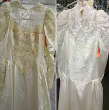 Wedding Dress Gallery Before U0026 After Wedding Dress Restoration Gallery