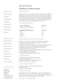 Example Warehouse Resume Sample Resume For Warehouse Associate U2013 Topshoppingnetwork Com