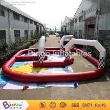 Outdoor Inflatables Go Kart Race Track 11m 9m Outdoor Sport Bingo