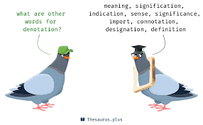 words denotation and sketch have similar meaning