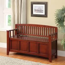 linon home decor cynthia storage bench walnut walmart com