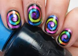 groovy swirls with opi color paints adventures in acetone