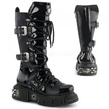 biker boots fashion demonia gothic boots goth shoes platform boots free shipping