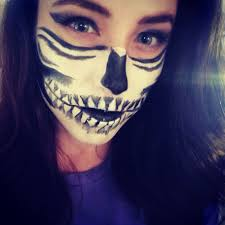 Skeleton Face Paint For Halloween by Bottom Half Face Skull Makeup Mugeek Vidalondon