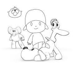awesome pocoyo colouring pages colouring pages pocoyo
