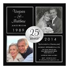 25th wedding anniversary invitations 2100 25th wedding