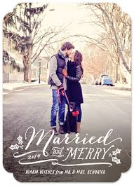 married christmas cards photo cards married and merry at minted
