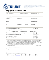 sample generic employment application form 10 free documents in pdf