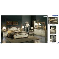 Bedroom Furniture Classic Chic Camelgroup Trend Bed In Bronze Multiple Sizes By Esf Furniture