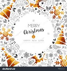 Happy New Year Board Decoration by Merry Christmas Happy New Year Gold Stock Vector 508639180