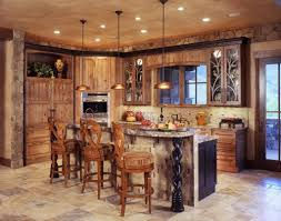 kitchen attractive rustic kitchen chandelier lights over granite