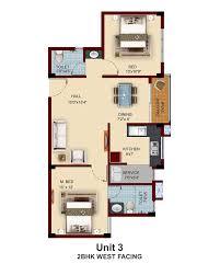 2bhk Floor Plan Apartments With Private Terrace Garden In Chennai Near Pallavaram