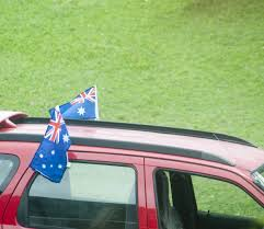Car Flag Photo Of Aussie Car Flags Free Australian Stock Images