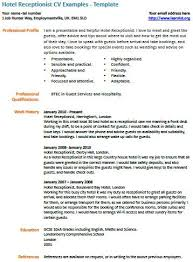 resume exles for receptionist hotel receptionist cv exle customer service cv