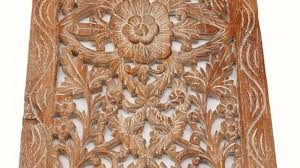 bold inspiration carved wood wall decor antique balinese panels