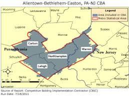 easton map cbic 2 competitive bidding area allentown bethlehem