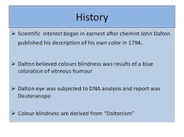 History Of Color Blindness Colour Vision With Lvm