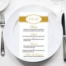 Diy Wedding Menu Cards Mint Menu Card Template Mint Flourish From Graphicartdesign On