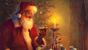 santa and baby jesus picture santa claus his proper place in christmas author appleton