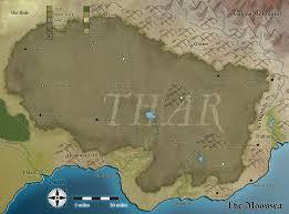 Map Of Faerun Thar Forgotten Realms Wiki Fandom Powered By Wikia