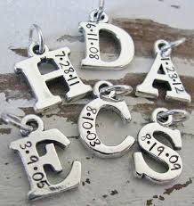 solid sterling silver charm bracelet images Solid sterling silver initial charm with date jewelry ideas jpg