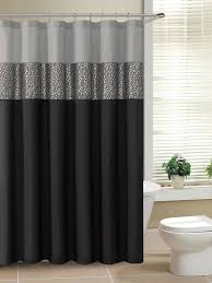 Grey Metallic Curtains Black And Gray Fabric Shower Curtain With Metallic Silver