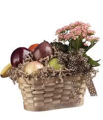 fruit flower basket fruit kalanchoe basket at from you flowers
