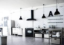 carrelage cuisine damier noir et blanc decoration carrelage metro blanc cuisine moderne noir blanc hotte