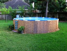 garden distinctive round aboveground pool landscaping tips for