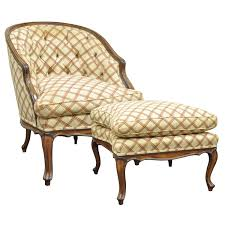 vintage country french louis xv style barrel back bergere lounge