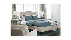 colette natural upholstered bed crate and barrel