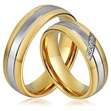 price engagement rings images Anazoz stainless steel wedding bands 6mm gold plated engagement jpg