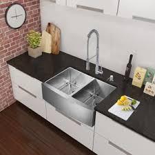 Faucet And Soap Dispenser Placement Modern Farmhouse Apron Kitchen Sinks Allmodern
