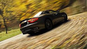 maserati road maserati granturismo sports car speed blur road hd wallpaper