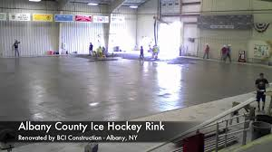 bci construction albany county ice hockey rink youtube